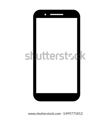 phone vector with blank white screen isolated on white background #1499775812