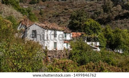 An old lonely house in Barranco de la Virgen, Valleseco, Gran Canaria, Canary Islands #1499846762