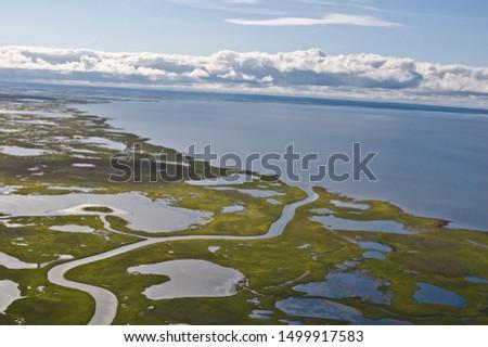 Abandoned Tobseda village and its surroundings, Barents Sea coastal area, Timan tundra, Nenets Autonomous Okrug, Arkhangelsk Region, Russia #1499917583