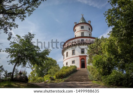 Hunting chateau Humprecht surrounded by a wood park near Sobotka, Czech republic #1499988635