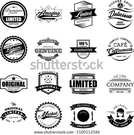 Vintage Logo Badges Vector Set Design #1500112586
