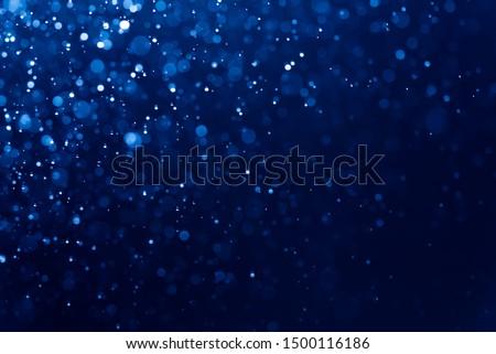 Abstract Blue bokeh defocus glitter blur background. #1500116186