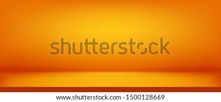 Luxury orange abstract background. Halloween layout design, studio, room. Business report paper with smooth gradient for banner, card. Vector illustration #1500128669