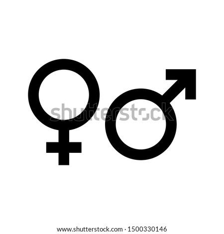 Gender icon. Man and Woman icon . Male and Female symbol vector sign isolated on white background illustration for graphic and web design. Royalty-Free Stock Photo #1500330146