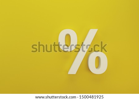 Percentage sign symbol icon white on yellow background #1500481925