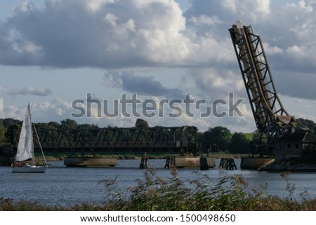 historical draw bridge at the Schlei fjord  in Lindaunis #1500498650