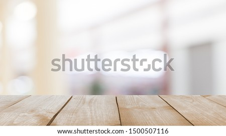 Worn table and blur with bokeh background #1500507116