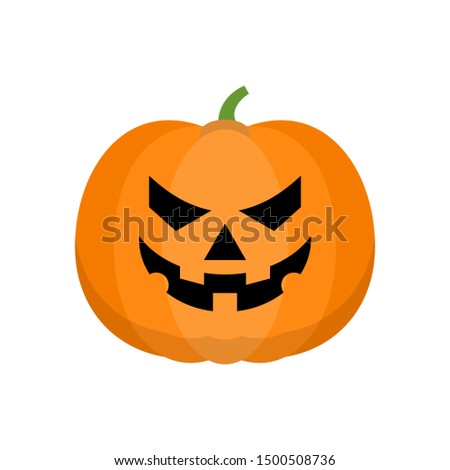 Halloween pumpkin Icon Isolated on White Background. Halloween happy pumpkin vector icons, Emotion Variation. Simple flat style design elements. Silhouette spooky horror images of pumpkins.