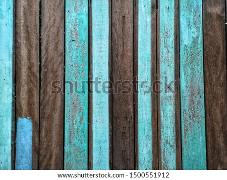 blue and brown wood furface as background. #1500551912