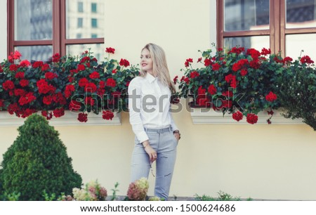 successful young woman in formal wear in the city #1500624686