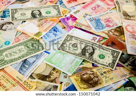 currency paper, banking and finance, money savings Royalty-Free Stock Photo #150071042