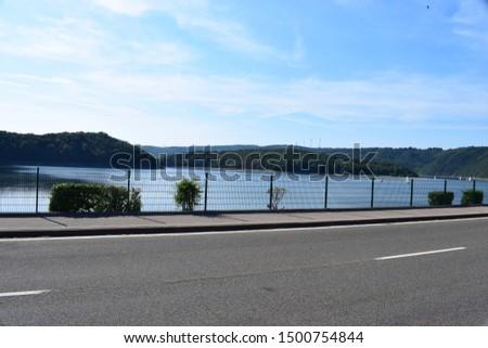 Rursee reservoir lake in northern Eifel #1500754844