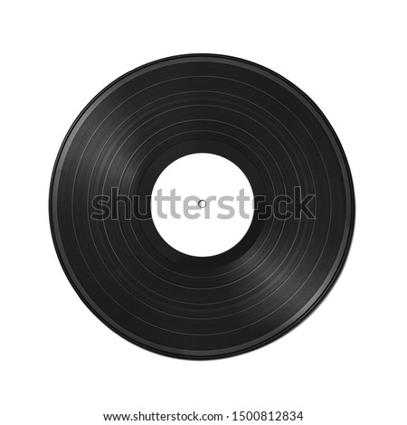 Vinyl record on a white background. Old vintage vinyl record isolated on white background #1500812834