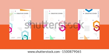 Creative cover design in Geometric style. minimal. can be used for backgrounds, banners, posters, leaflets, leaflets, web templates, #1500879065