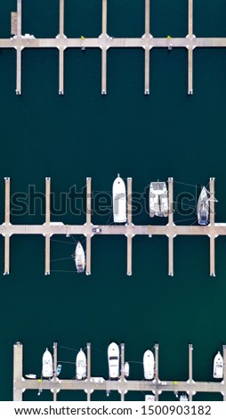 boats parked on the dock from top #1500903182