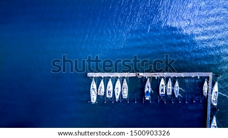 boats parked on the dock from top #1500903326