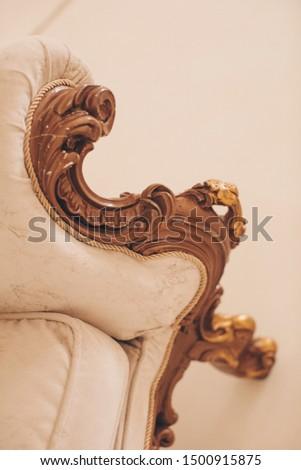 detail of an old sofa. Sofa  #1500915875