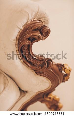detail of an old sofa. Sofa  #1500915881