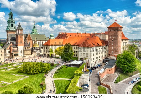 Wawel Castle during the Day, Krakow, Poland #1500934991