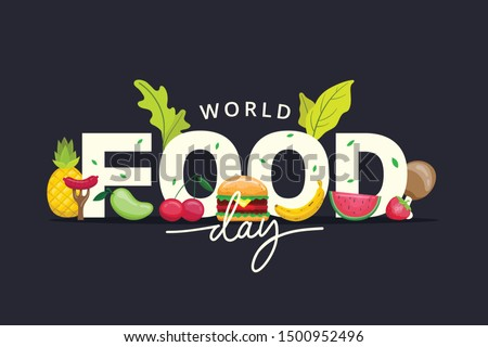 World Food Day illustration vector is suitable for social media, banner , poster , Flyer and related with food #1500952496