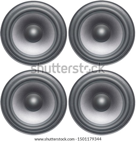 speakers isolated on white background #1501179344