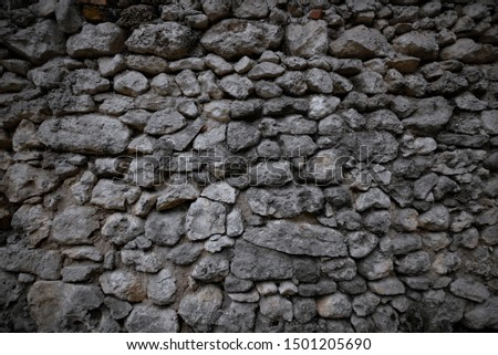 background stones stone wall large gray stones #1501205690