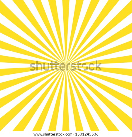 Vintage abstract template with yellow sunrays on light background. Sunlight abstract background. Starburst wallpaper. Retro bright backdrop. EPS 10 #1501245536