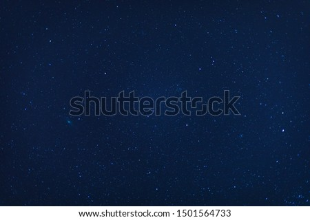 Closeup night blue starry sky