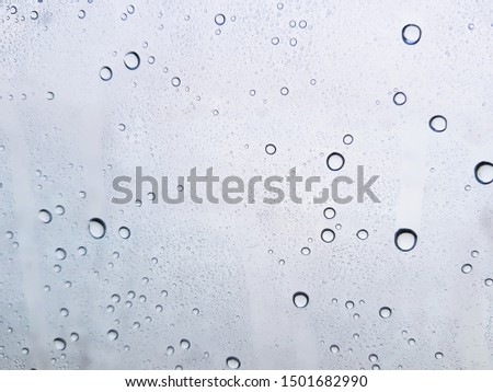 Water drops background , rain drops on glass #1501682990