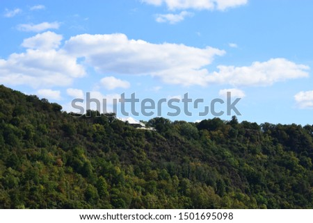 top of loreley rock with event tents #1501695098