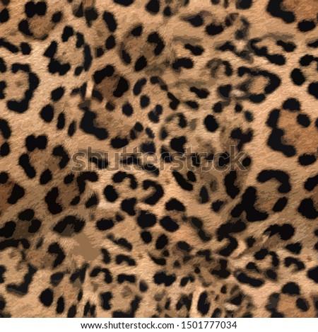 Leopard skin print pattern  colored design #1501777034
