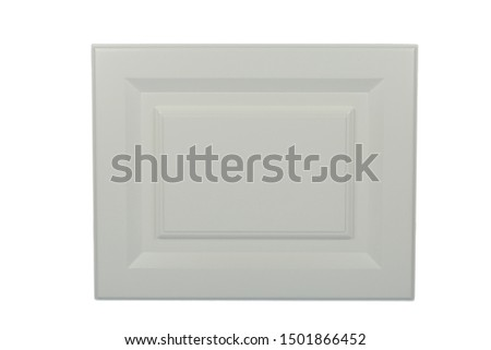 Background or concept of minimalist furniture facade for the kitchen, furniture interior on a white background. #1501866452