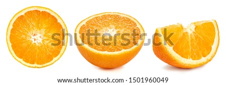 Orange fruits isolated on white background. Orange Clipping Path. Orange collection #1501960049