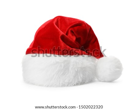 Santa Claus red hat isolated on white #1502022320