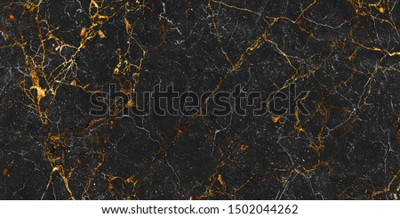 Black and gold marble texture design for cover book or brochure, poster, wallpaper background or realistic business and design artwork, natural black marbel texture background with golden veins #1502044262