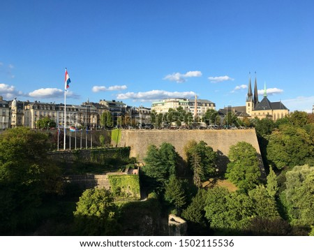 Scenic view of Luxembourg City old town #1502115536