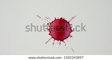 Blood splatters. Realistic bloody splatters for Halloween concept. #1502243897