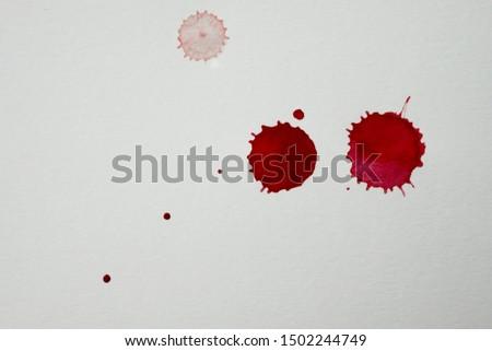 Blood splatters. Realistic bloody splatters for Halloween concept. #1502244749