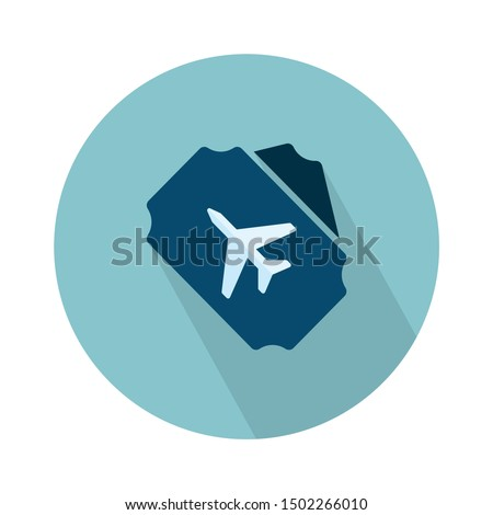 flight ticket icon - From web, universal and Miscellaneous Icons set Royalty-Free Stock Photo #1502266010