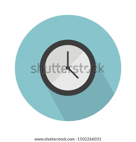 wall clock flat icon - From web, universal and Miscellaneous Icons set Royalty-Free Stock Photo #1502266031