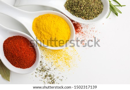 three spices powder spoon table  #1502317139