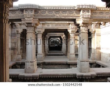 Adalaj Stepwell Heritage Site Ahmedabad Gujarat #1502442548