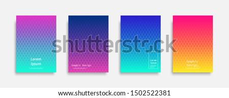 Minimal covers design. Halftone dots colorful design. Future geometric patterns. Eps10 vector. #1502522381