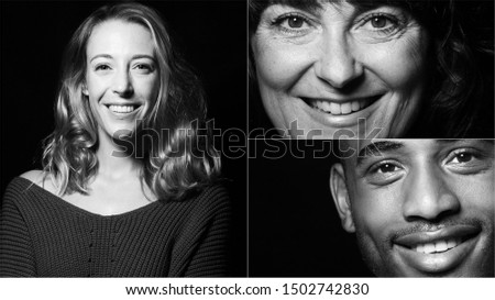 Group of businesspeople in front of a black background #1502742830