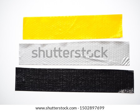 yellow gray black scotch tape, sticky tape isolated on white background. can use business-paperwork-banner products #1502897699