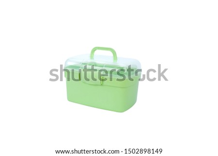 Portable portable green medicine box cosmetic case #1502898149