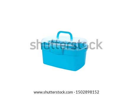 Portable portable blue medicine case cosmetic case #1502898152