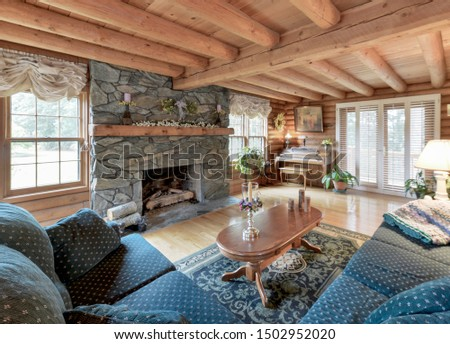 Auburn, WA / USA - Sept. 10, 2019: Rustic living room interior #1502952020