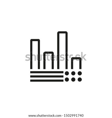 Infographic line icon. Diagram presentation analysis. Business concept. Vector illustration can be used for topics like business work management #1502991740