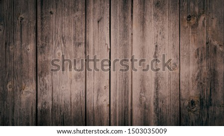 Old brown wooden wall, detailed background photo texture. Wood plank fence close up. #1503035009